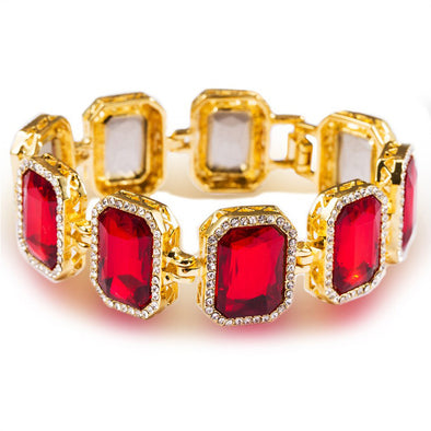14k Gold Ruby Bracelet - Capital Bling Gold HipHop Jewelry