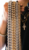 12mm Iced Out Cuban Link CZ Diamond Chain-Chain--Capital Bling
