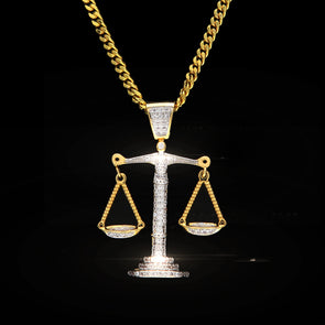 Iced Out 14k Gold Scales Pendants Necklace - Capital Bling Gold HipHop Jewelry