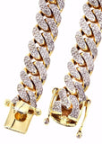 12mm Iced Out Cuban Link CZ Diamond Chain - Capital Bling Gold HipHop Jewelry