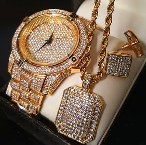 EXCLUSIVE Ice Box Jewelry Collection - Capital Bling Gold HipHop Jewelry