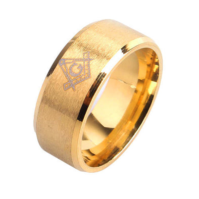 Free Mason Ring in Yellow Gold - Capital Bling Gold HipHop Jewelry