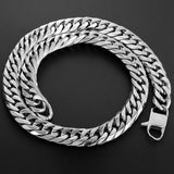 12mm Stainless Steel Cuban Curb Link Chain - Capital Bling Gold HipHop Jewelry