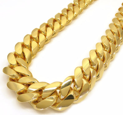 HUGE 14k Gold 25mm Cuban Curb Link Chain - Capital Bling Gold HipHop Jewelry