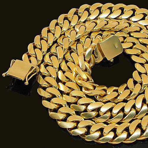 Cuban Link Chain (15mm) in Yellow Gold - Capital Bling Gold HipHop Jewelry