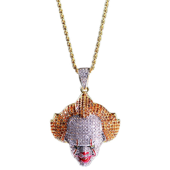 (Limited Edition) 14k Gold Pennywise Clown Iced Out Pendant - Capital Bling Gold HipHop Jewelry