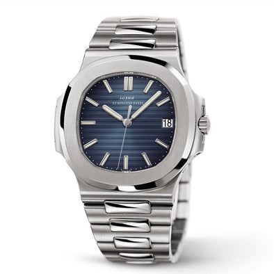 Patek Philippe Nautilus Style Watch In Stainless Steel - Capital Bling Gold HipHop Jewelry