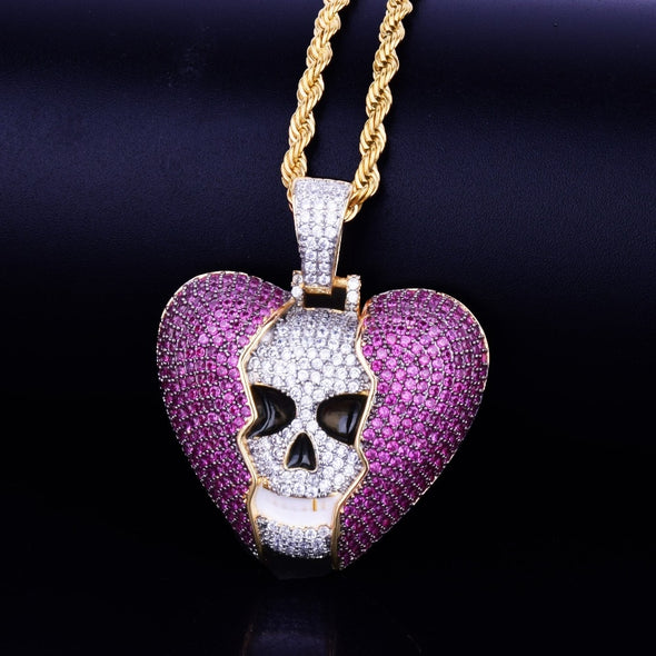 Dangerous Love Pendant in 14k Yellow Gold - Capital Bling Gold HipHop Jewelry
