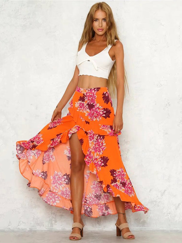 Bohemia Falbala Beach Skirt Bottoms