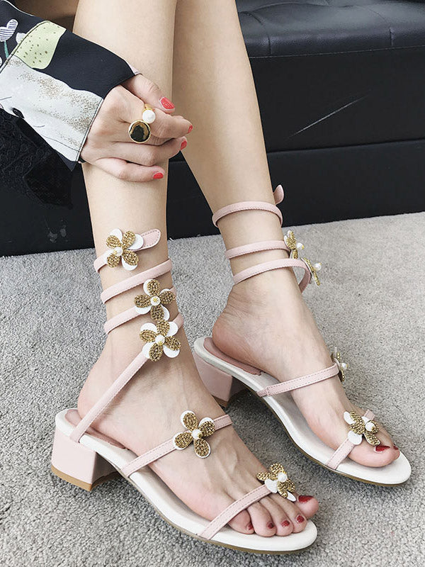 Flower Peep-toe Sandals