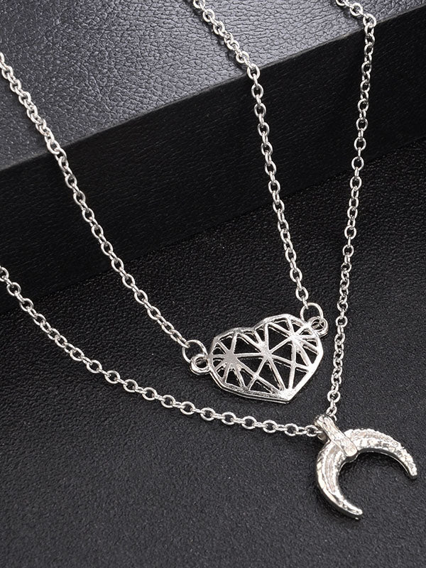 Hollow Moon Necklaces Accessories