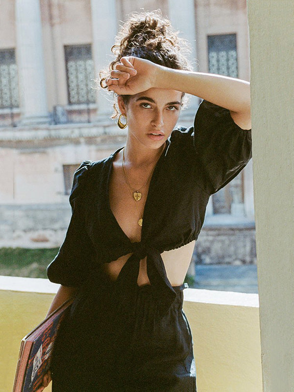 Sexy Bow-embellished Beach Vacation Suits