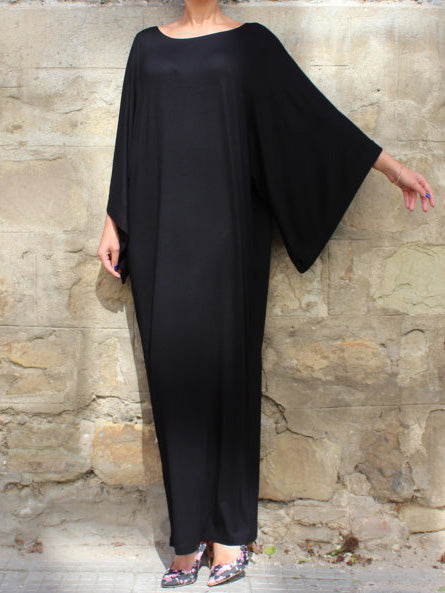 Loose Batwing Sleeves Maxi Kaftan Dress