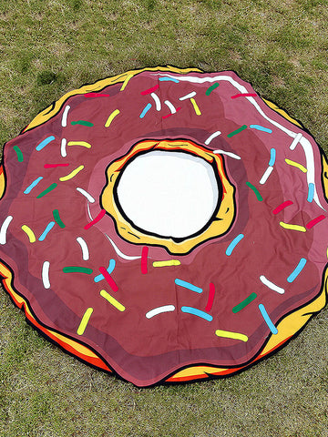 Sweet Doughnut Vacation Round Scarve Shawl Beach Mat