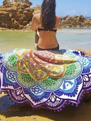 Popular Summer Round Shawl Beach Mat Yoga Mat