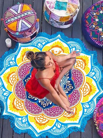 Sweet Summer Round Shawl Beach Mat Yoga Mat