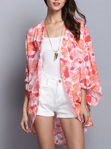 Summer Floral Cover-up Cardigan Tops