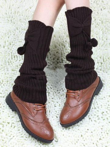 Leg Warmers Bowknot Stocking
