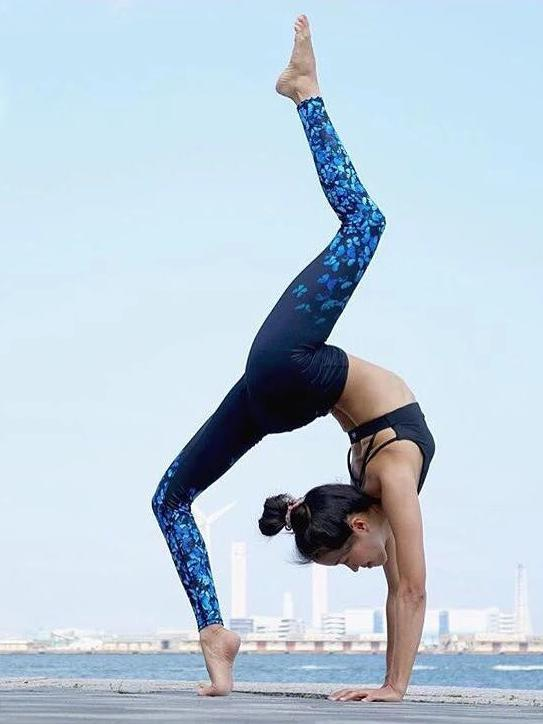 Butterfly Printed Sports Yoga Leggings Bottoms