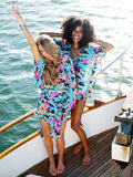 Chiffon Butterfly Printed Beach Cover-Ups