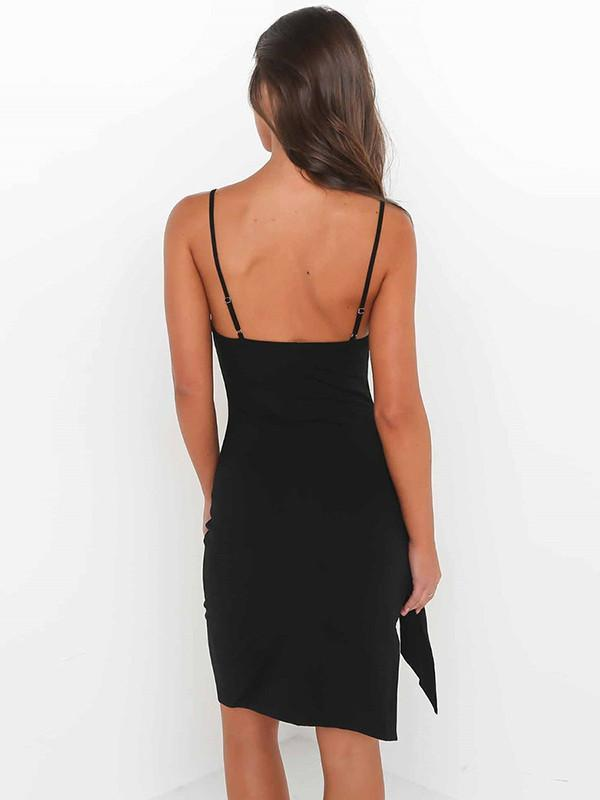 f6094be6255 ... Pretty Sexy Solid Color Straps Off-Shoulder Off-Back Bodycon Bandage  Dress
