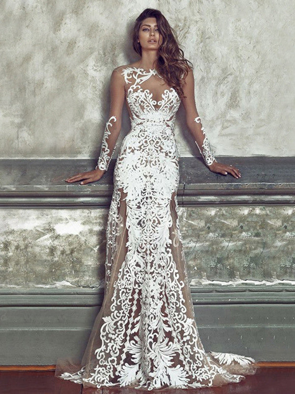 Sexy Lace Embroidered Hollow Round-neck Floor Maxi Dress