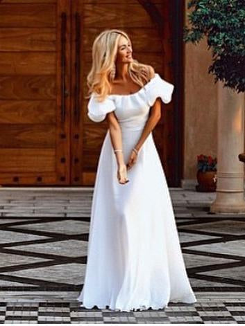 Falbala Off-the-shoulder Maxi Dress