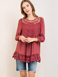Hollow Flared Sleeves Blouses&Shirts Top
