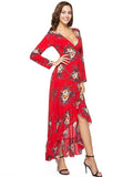 Falbala Mermaid Wrap Maxi Dress