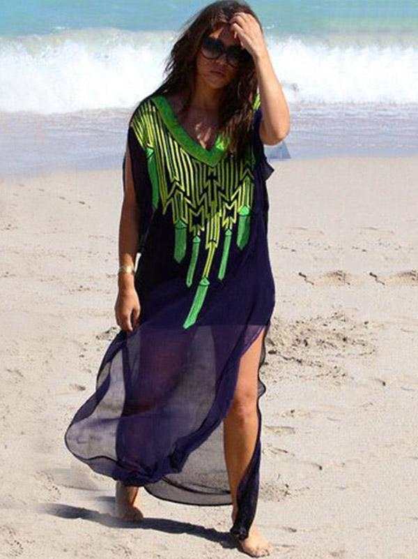 Chiffon Printed Cover-Ups Swimwear