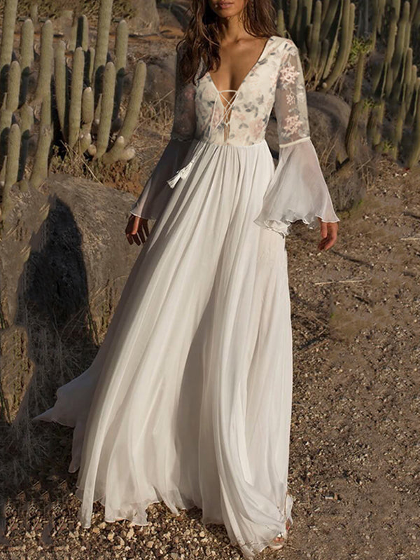 K'Mich Weddings - wedding planning  - wedding dresses - printed bandage waisted flared sleeve evening dress - oshoplive