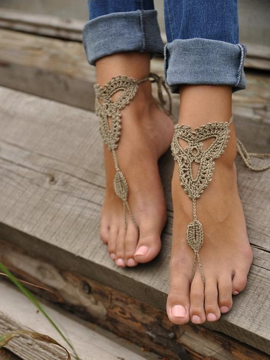 Pretty Crochet Weave Footchain Accessories