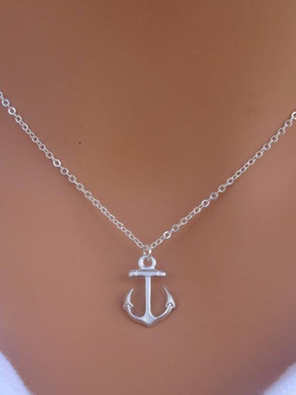 Bohemia Boat Anchor Necklace Accessories