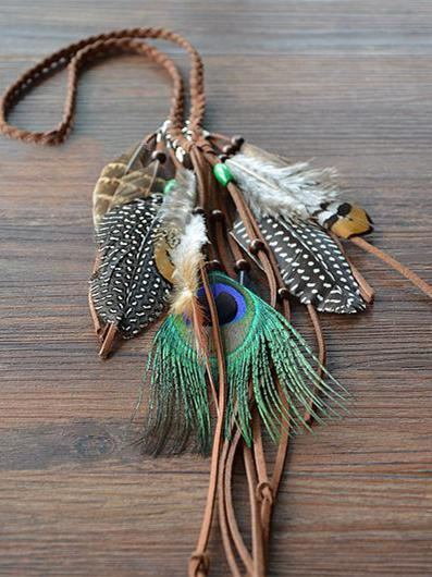 Bohemia Peacock Feathers Headwear Accessories