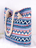 Fashion Floral Striped Single Shoulder Bag