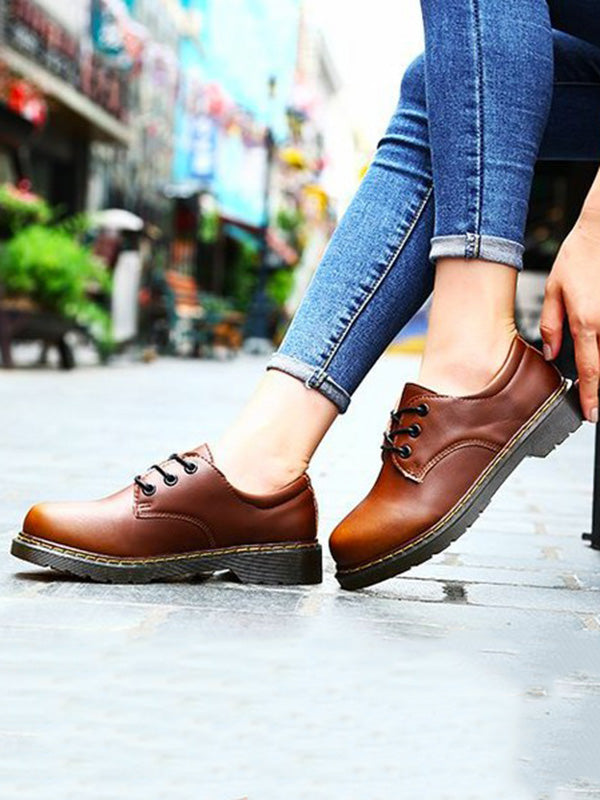 Fashion British Style Loafers Flats