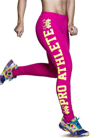Popular Sports Runing Model Body Quick-drying Print Tight Leggings Bottoms