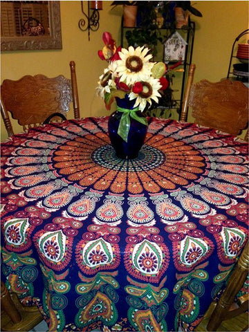 Beautiful Bohemia Colorful Round Shawl Beach Mat