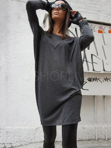 Gray Soft Long Sleeves T-shirt