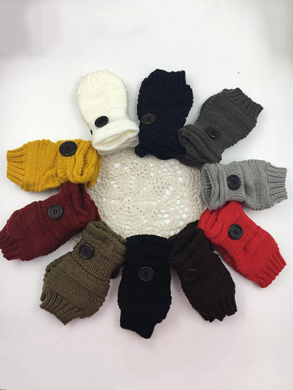 Knitting Solid Sleevelet Accessories