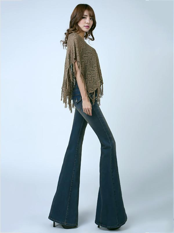 Fashion Slim Bell-bottoms Jean Pants Bottoms