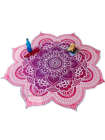 Romantic Floral Summer Round Beach Mat Yoga Mat
