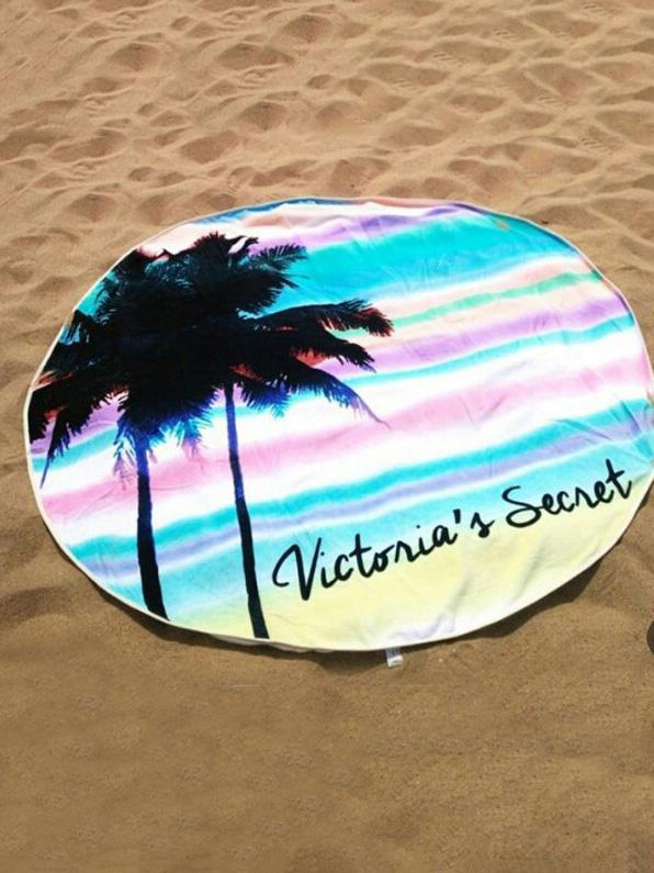 Bohemia Coconut Tree Pattern Round Beach Mat Yoga Mat