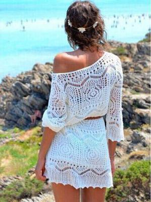 Knitting Hollow Swimwear Cover-up