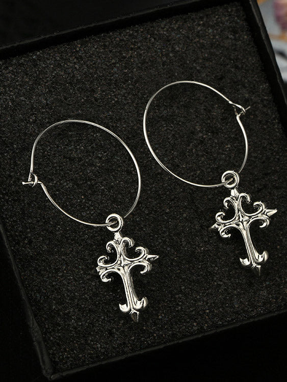 Simple Cross Earrings Accessories