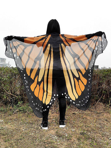 Beautiful Butterfly Vacation Long Scarve Shawl