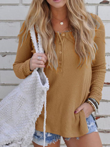 Loose 4 Colors Long Sleeves Sweater Tops