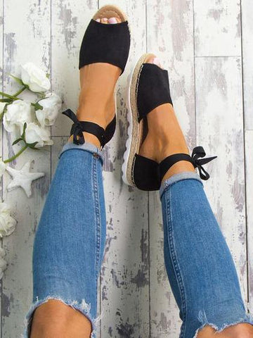 Causal Open-toe Low-heel Shoes