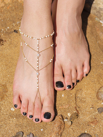 Beautiful Bohemia Beads Tassels Footchain Accessories