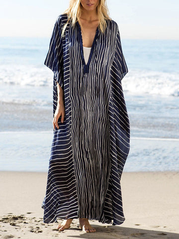 Loose Oversize Vacation Striped Dress
